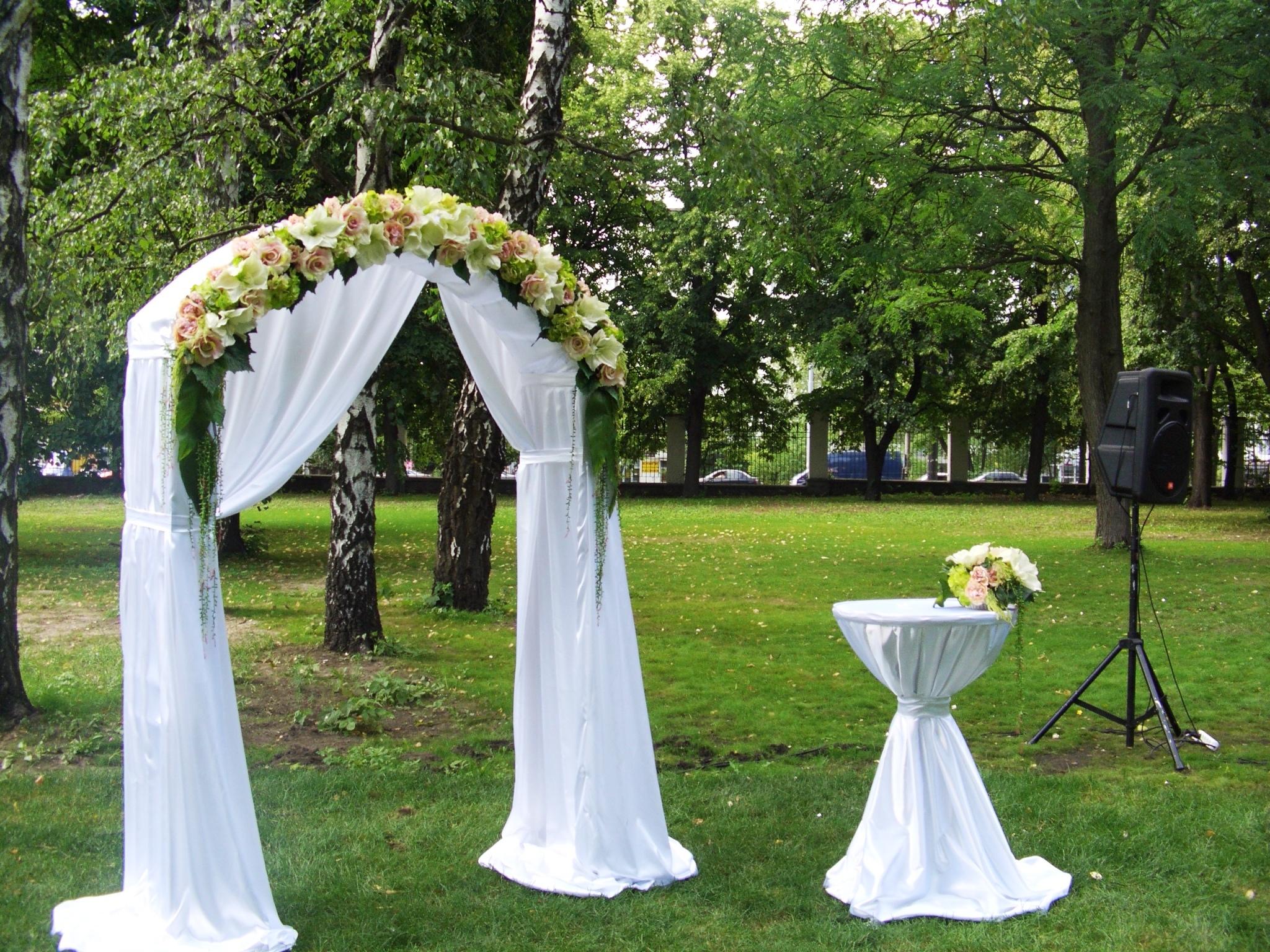Свадебный стол у арки своими руками